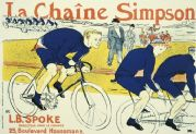 Vintage French cycling poster - La Chaîne Simpson